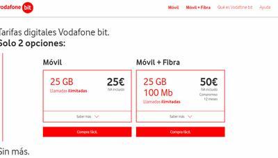 Vodafone Bit, nuevas tarifas low cost de móvil y fibra para competir con O2