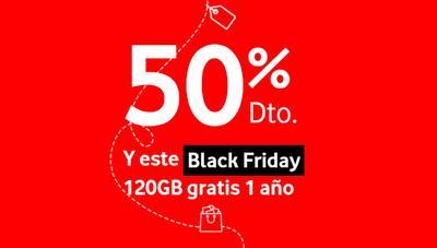 Vodafone regalará a partir de hoy 120GB gratis durante 1 año por el Black Friday