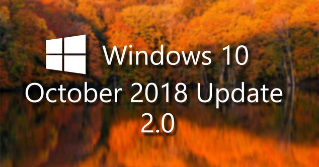 windows 10 october 2018 update 2