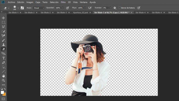 quitar el fondo de una imagen con photoshop