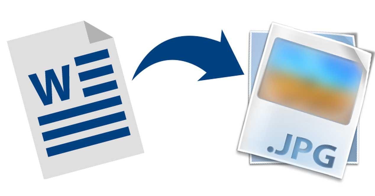 Cómo convertir un documento de Word a JPG