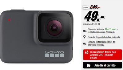 Nuevo fallo de precios en MediaMarkt: GoPro HERO7 por 49€ que al final te cuesta 300€