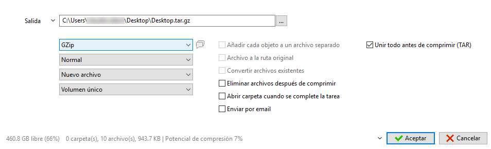 Comprimir y descomprimir  tar  tar gz  tgz  gz en Windows 10