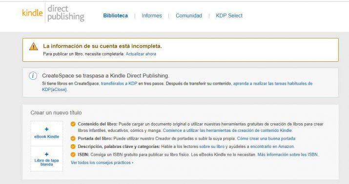 publicar un libro en Amazon