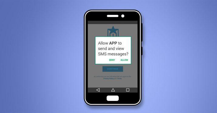 app sms llamadas permisos