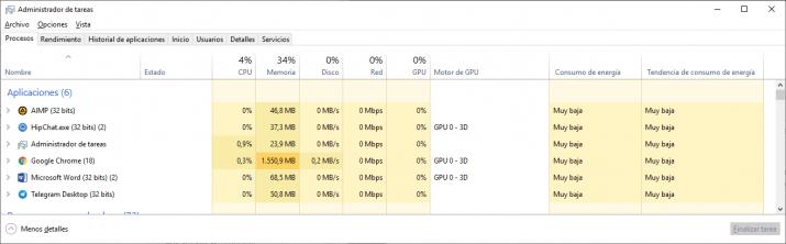 consumo bateria administrador de tareas