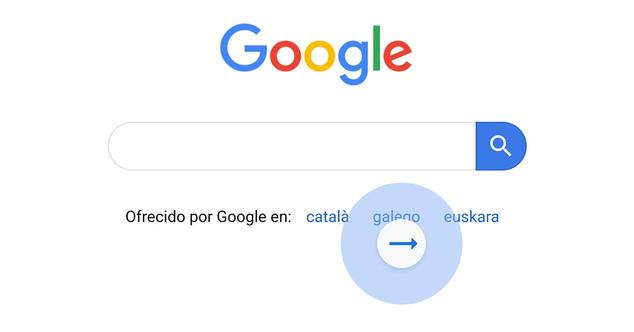 google chrome navegar historial gestos
