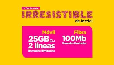 Doblemente Irresistible, la nueva tarifa de Jazztel con dos líneas con 25 gigas y fibra óptica
