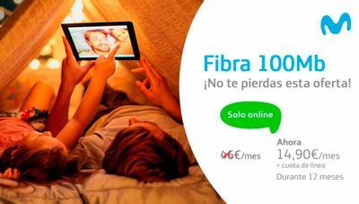 Movistar vuelve a rebajar la fibra óptica a 32 euros durante un año