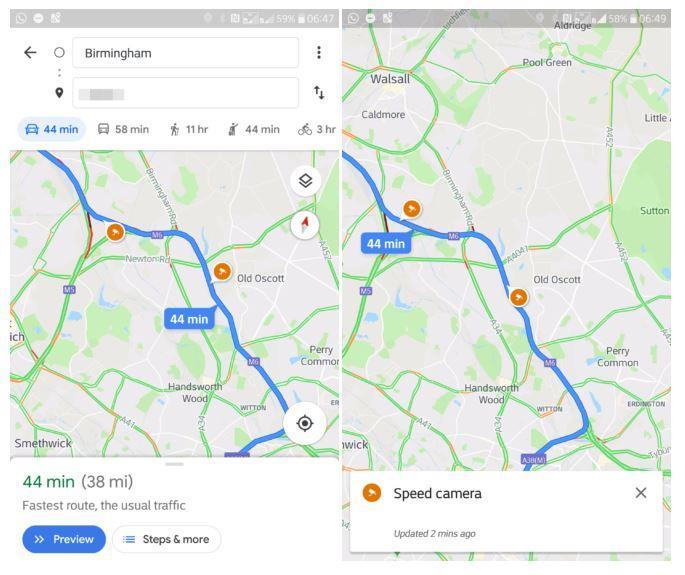 Los radares de velocidad empiezan a aparecer en Google Maps