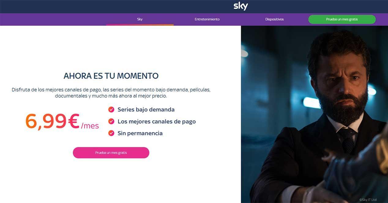 sky españa 6,99 euros precio