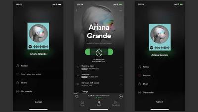 Spotify te permitirá silenciar y bloquear artistas para no oírlos