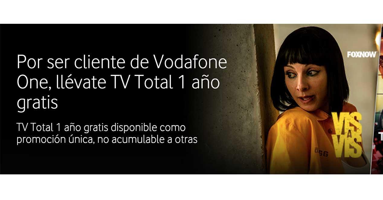 vodafone one gratis un año