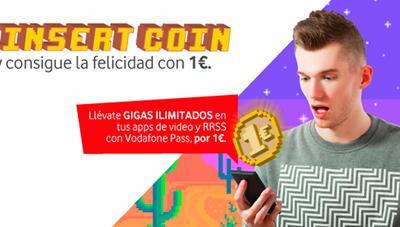Vodafone Pass con datos ilimitados en tus aplicaciones por 1 euro si eres Yu