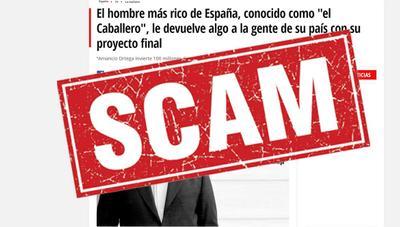 Facebook no hace nada: el timo de la herencia de Amancio Ortega sigue anunciándose