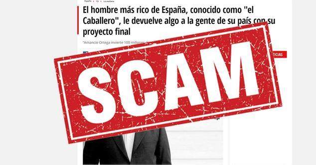 Ver noticia 'Facebook no hace nada: el timo de la herencia de Amancio Ortega sigue anunciándose'