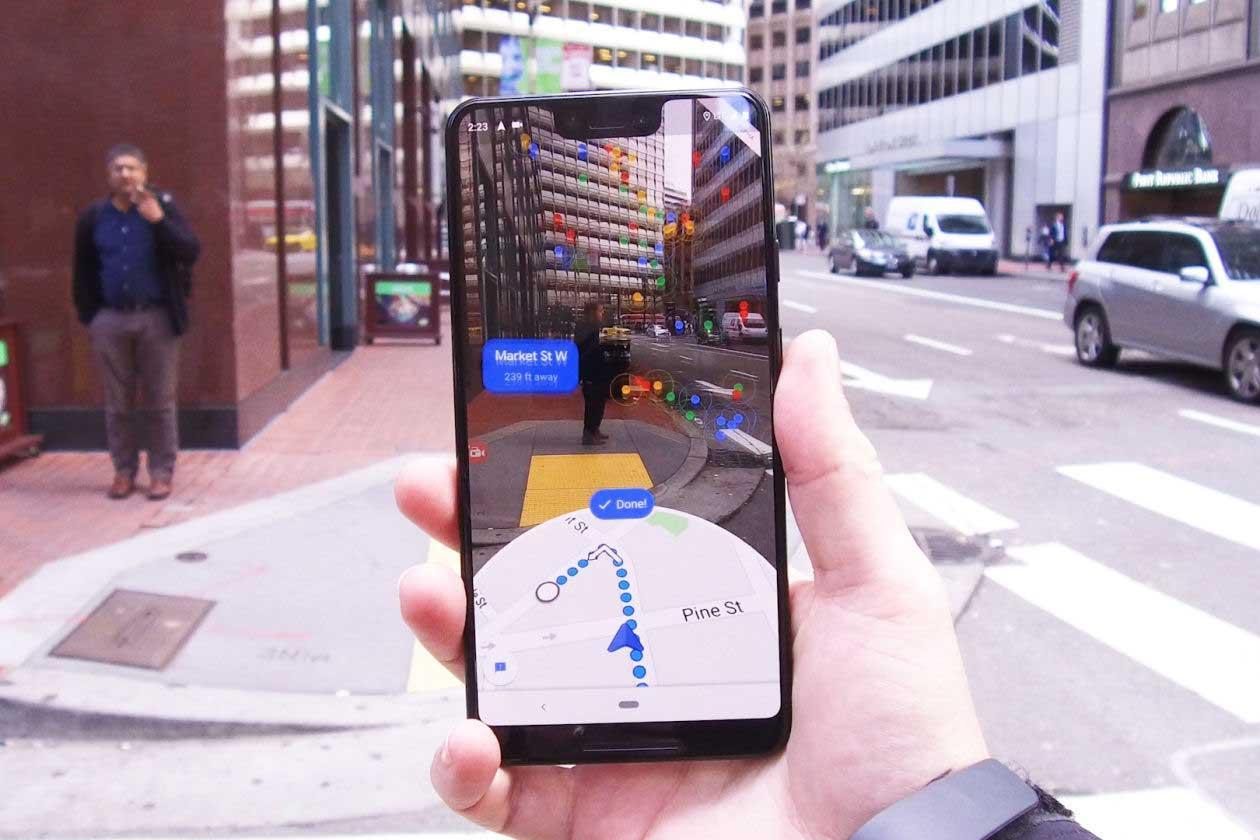 Google Maps ahora permite navegar en realidad aumentada