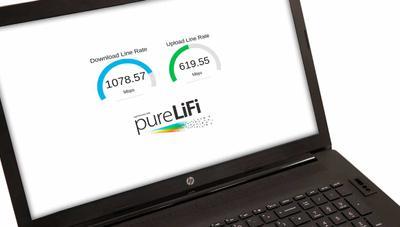 El primer portátil Gigabit LiFi vuela a 1 Gbps con Internet a través de la luz