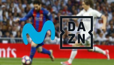 DAZN dispuesto a negociar con Movistar para ofrecer fútbol online