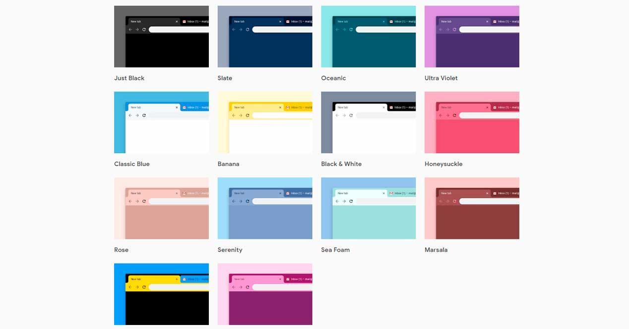 nuevos 12 temas google chrome