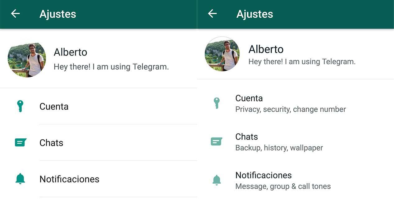nuevos ajustes whatsapp