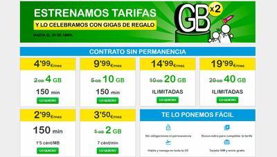Nuevas tarifas de SUOP con más datos para navegar: en promoción hasta 40GB por menos de 20 euros