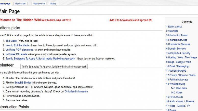 Hidden Wiki - buscadores en la Deep Web