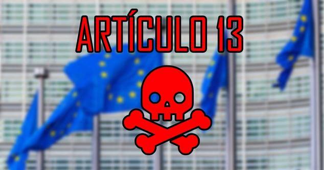 artículo 13 ue copyright