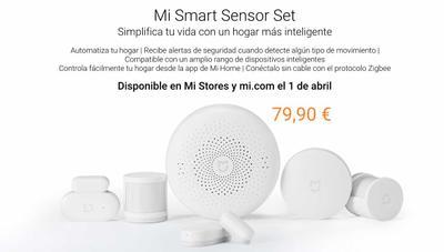 Llega a España el kit de domótica y alarma Xiaomi Mi Smart Sensor Set por 80 euros