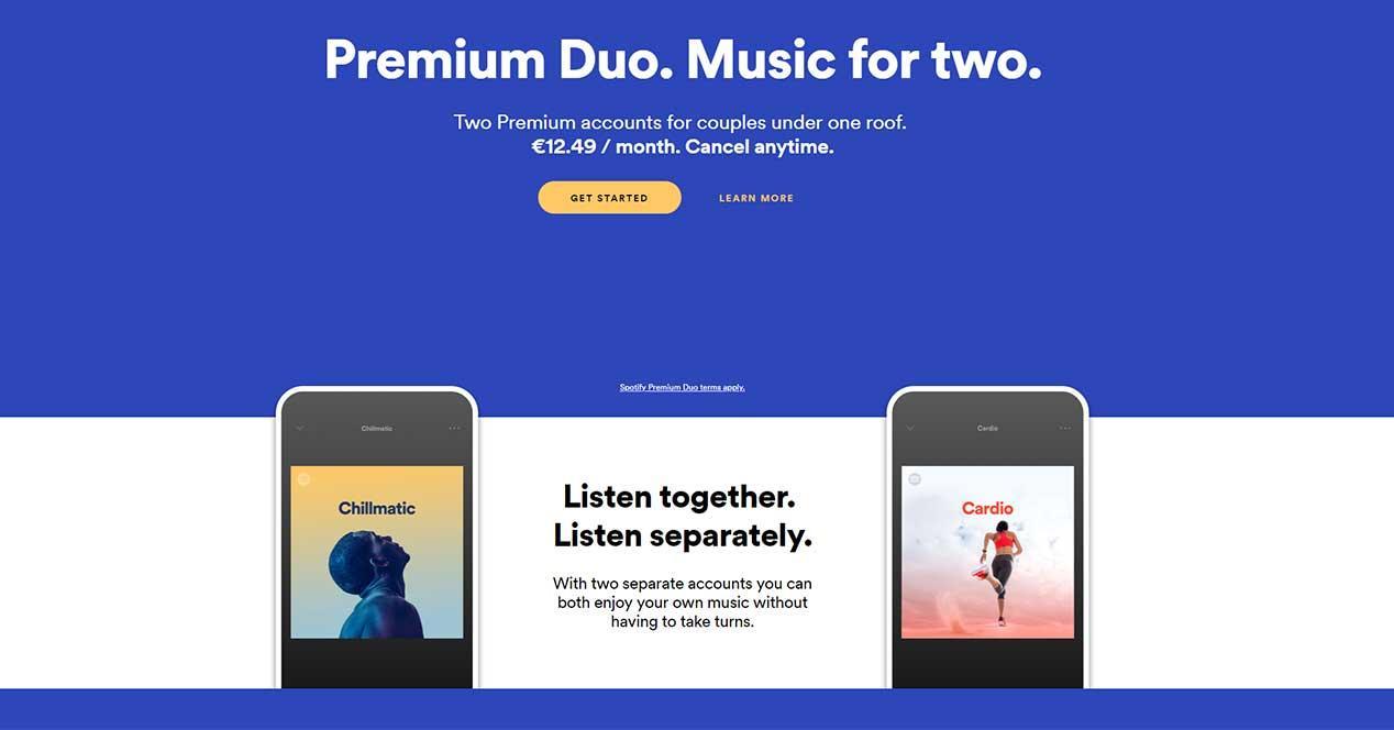 Nuevas cuentas baratas compartidas para dos — Spotify Premium Duo