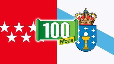 Madrid y Galicia, cara y cruz en fibra: casi el 100% de los madrileños podrán tener 100 Mbps el año que viene