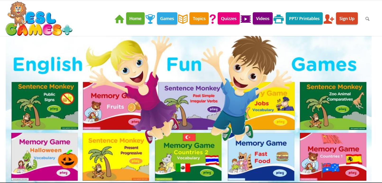 ESL Games para aprender inglés