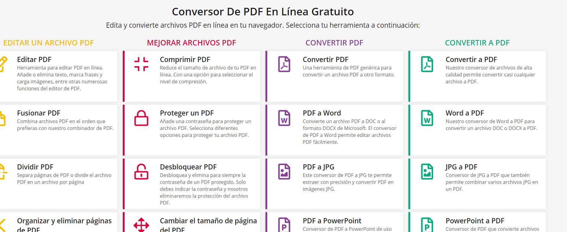 Editar PDF PDF2Go