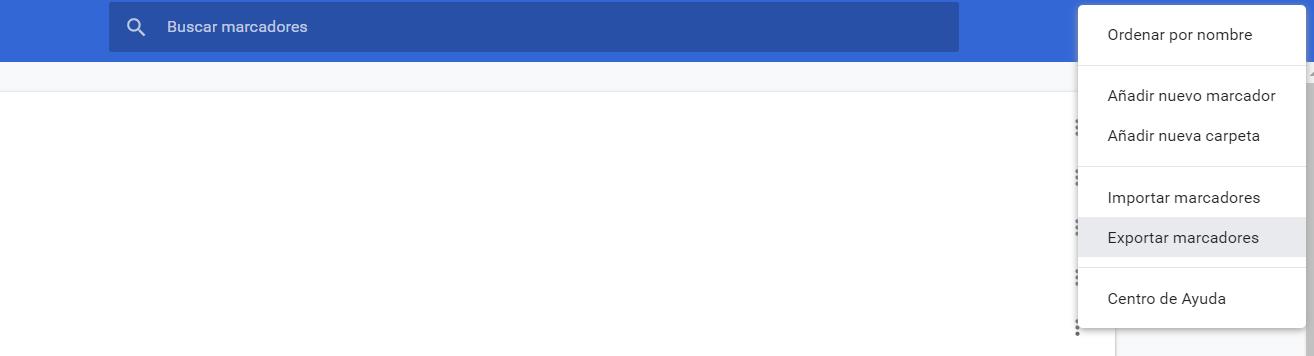 Exportar marcadores en Chrome