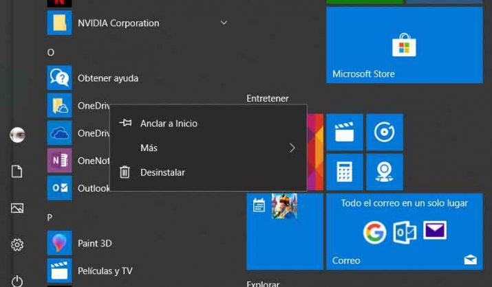 Desinstalar Windows 10