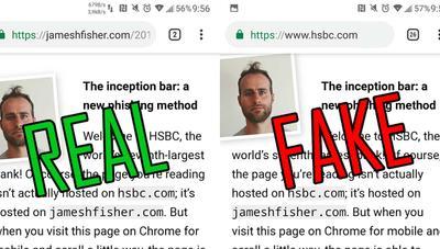 Crean una barra de direcciones falsa en Chrome para Android: cuidado con las webs que visitas