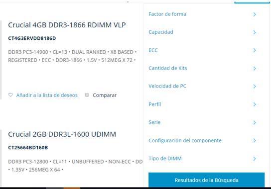 memoria RAM Crucial
