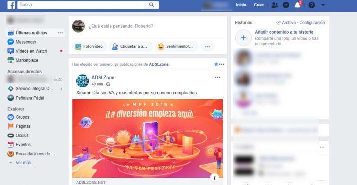 cambiar color Facebook