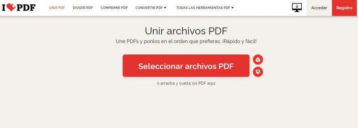 unir varios PDF