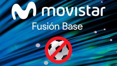 Movistar lanza un nuevo Fusión Base con el doble de gigas para los que no quieren fútbol
