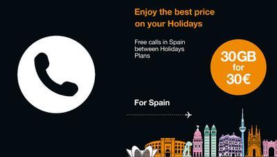 30 euros, 30 gigas, 30 días: la nueva tarifa de Orange para turistas