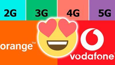 Orange y Vodafone compartirán sus redes móviles 2G, 3G, 4G y 5G en muchas ciudades