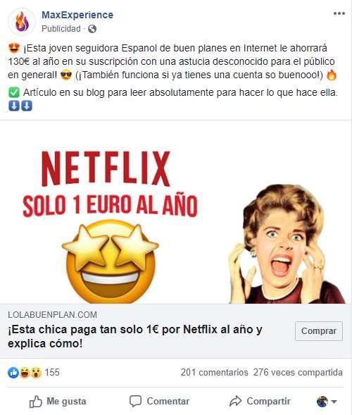 netflix por 1 euro
