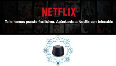 Telecable lanza el nuevo deco Tedi 4K 2019 e incorpora Netflix