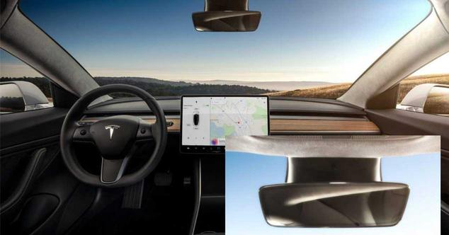 tesla model 3 camara retrovisor interior
