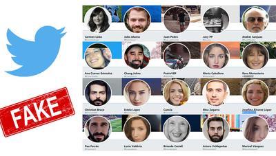 El PP está creando cuentas falsas en Twitter con caras generadas por IA