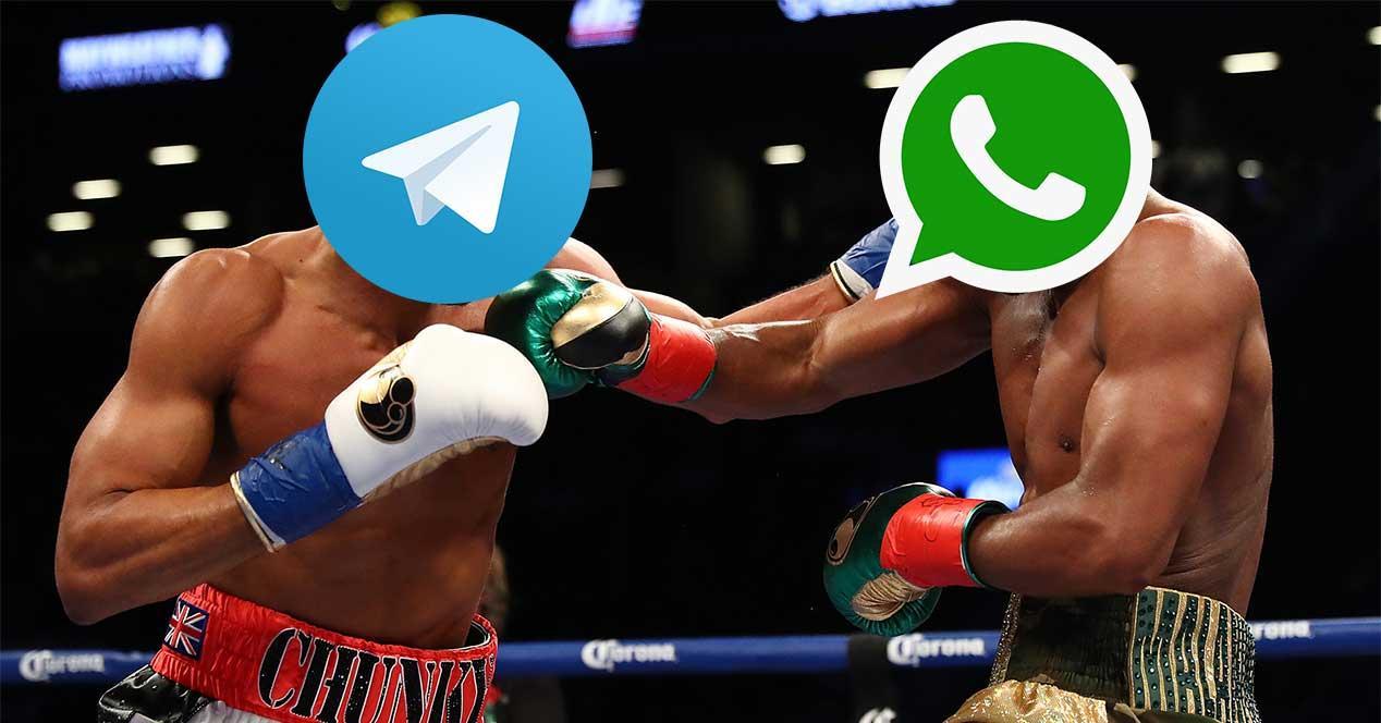 Resultado de imagen para telegram vs whatsapp