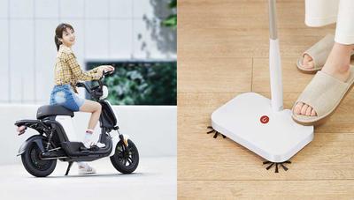 Xiaomi pone a la venta una escoba y una moto eléctricas a precios de risa