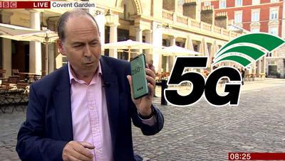 Hacen una prueba de 5G en directo y se quedan sin datos
