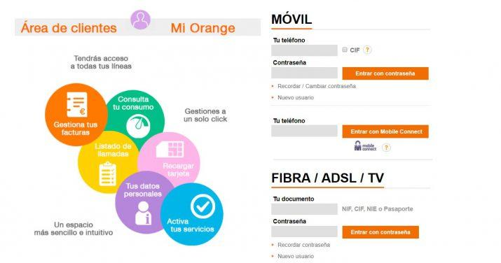 consumo en Orange